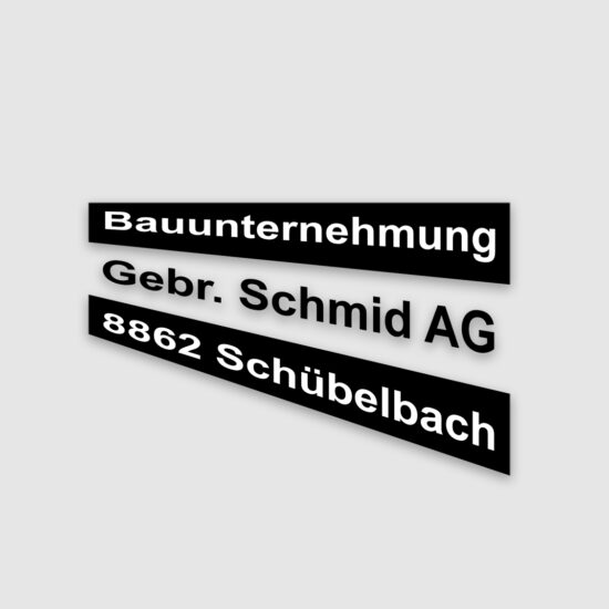 Logo Bauumternehmug Gebr. Schmid AG Schübelbach